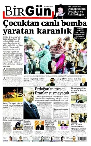 Günün Gazete Manşetleri 22 Ağustos 2016