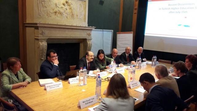 YÖK Başkanı Yekta Saraç Avrupalı Akademisyenlere Darbe Girişimi ve Sonrasını Anlattı