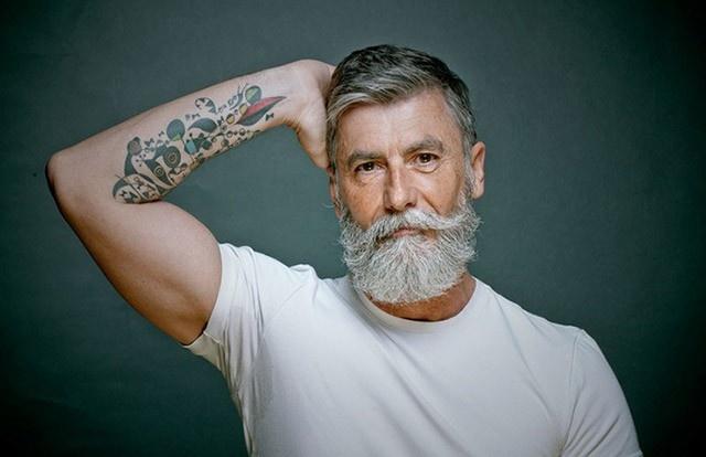 60 yaşından sonra sakal bıraktı model oldu!