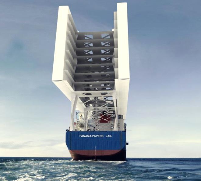 Devasa büyüklükte bir kargo gemisi üzerine inşa edilecek olan binlerce hücre… Bir kargo gemisi üzerine yapılacak olan hapishane, Orta Amerika ülkesi Panama#039;nın başkenti Panama City civarındaki uluslararası sularda yüzecek.