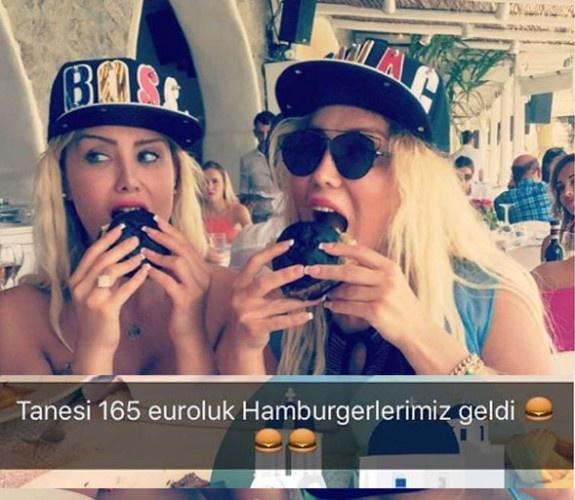 Cicişler iki tane hamburgere 1100 TL ödedi