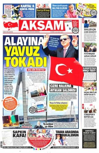 Günün Gazete Manşetleri 27 Ağustos 2016