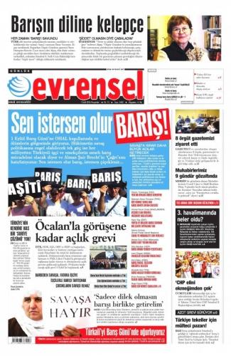 Günün Gazete Manşetleri 1 Eylül 2016