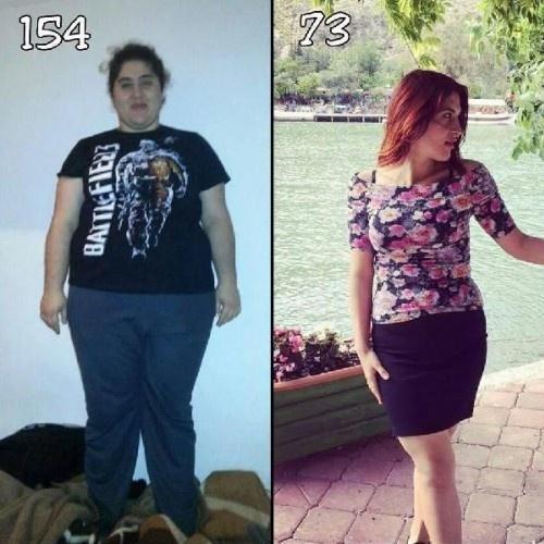 Yaşlılılığını düşünüp, 81 kilo verdi