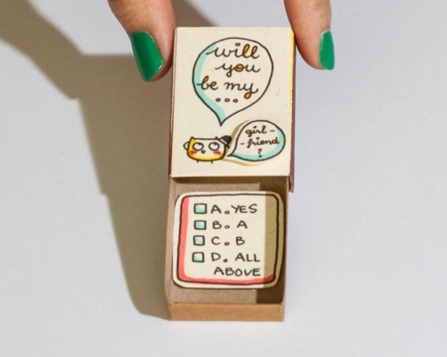 Sevginizi anlatmanın yeni yolu: Kibrit kutuları