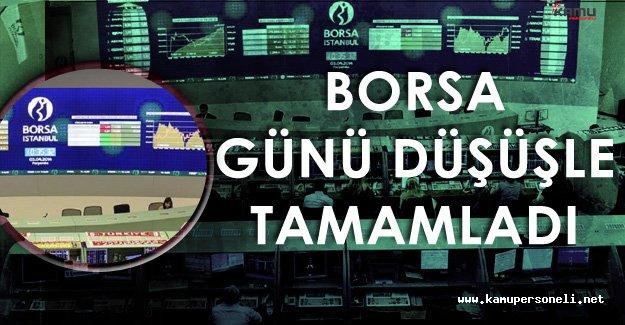10 Ekim Borsa İstanbul BİST 100 Endeksi Günü Düşüşle Tamamladı