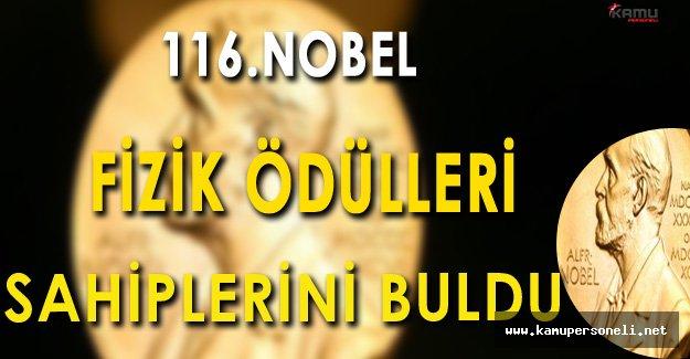 116.Nobel Fizik Ödülleri Sahiplerini Buldu