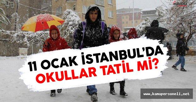 11 Ocak 2016 İstanbul'da Okullar Tatil Mi?