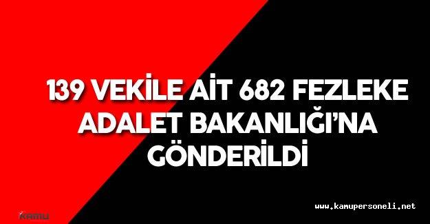 139 Milletvekiline Ait 682 Fezleke Adalet Bakanlığı'na Gönderildi