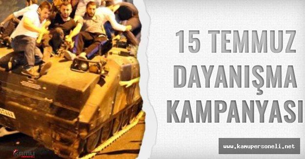 15 Temmuz Dayanışma Kampanyası Dahilinde 2 Milyon Türk Lirası Bağış Yapıldı