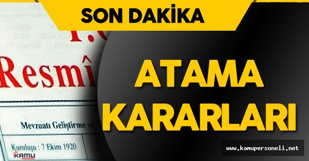 16 Ağustos Resmi Gazete Atama Kararları