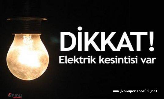 16 Temmuz Cumartesi Günü Elektrik Kesintisi (Semtler ve Saatler)