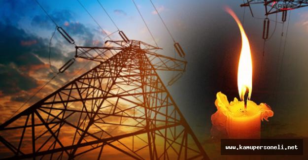 17 Eylül'de 3 İlde Elektrik Kesintisi Yaşanacak