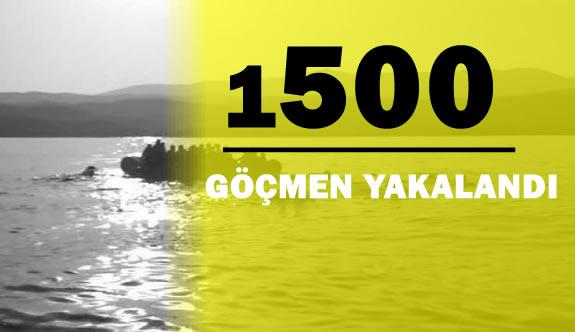 1500 Göçmen Güvenlik Güçleri Tarafından Yakalandı