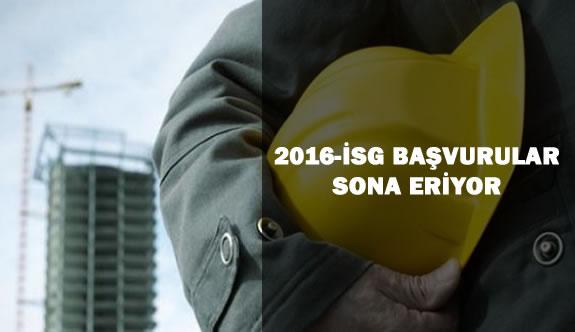 2016-İSG 1.Dönem Sınavı İçin Başvurular Sona Eriyor