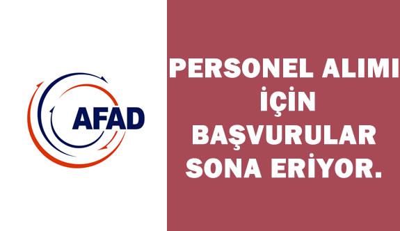 AFAD Personel Alımı İçin Başvurular Sona Eriyor