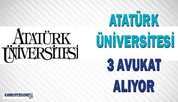 Atatürk Üniversitesi 3 Avukat Alıyor