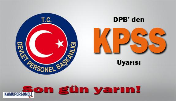 DPB'den KPSS Uyarısı
