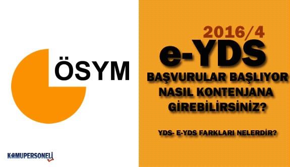 e-YDS 2016/4 İçin Başvurular Başladı - e-YDS Nedir?