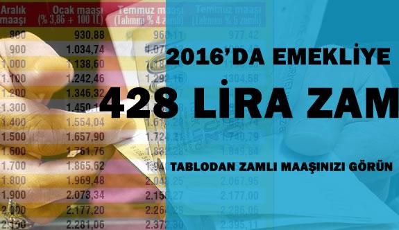 Emeklilere 428 Lira Zam