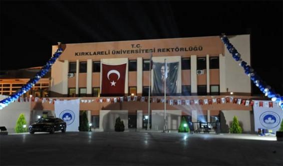 Kırklareli Üniversitesi Öğretim Görevlisi Alıyor