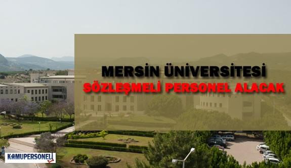 Mersin Üniversitesi Sözleşmeli Personel Alacak