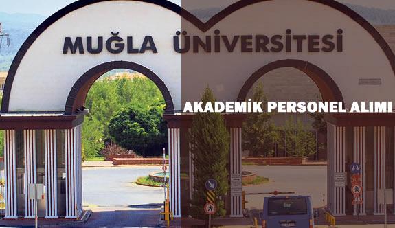 Muğla Sıtkı Koçman Üniversitesi Akademik Personel Alım İlanı