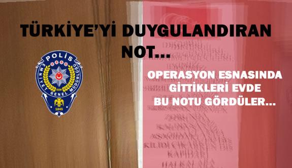 Operasyon Bölgesindeki Evin Kapısında Duygulandıran Not