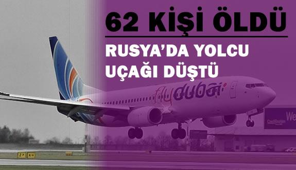 Rusya'da Yolcu Uçağı Düştü 62 Kişi Hayatını Kaybetti