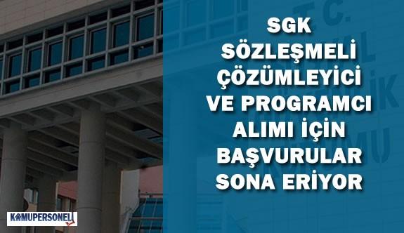 SGK Sözleşmeli Programcı ve Çözümleyici Alımı İçin Başvurular Sona Eriyor
