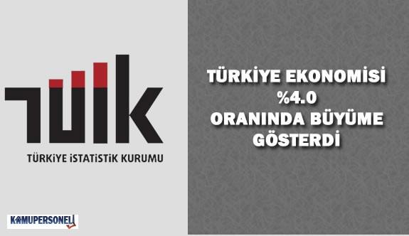 Türkiye Ekonomisi 2015 Yılında Yüzde 4 Büyüdü