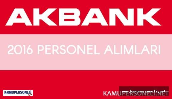 2016 Akbank Gişe Yetkilisi Alımı ( Akbank Personel Alım Kriterleri)