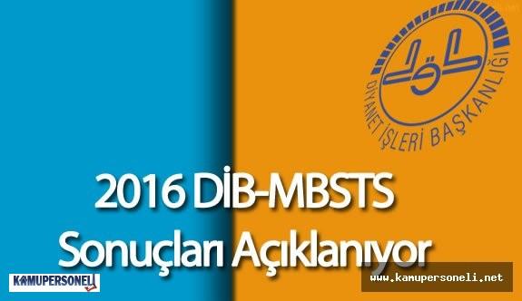2016 DİB MBSTS Sınav Sonuçları Açıklanıyor