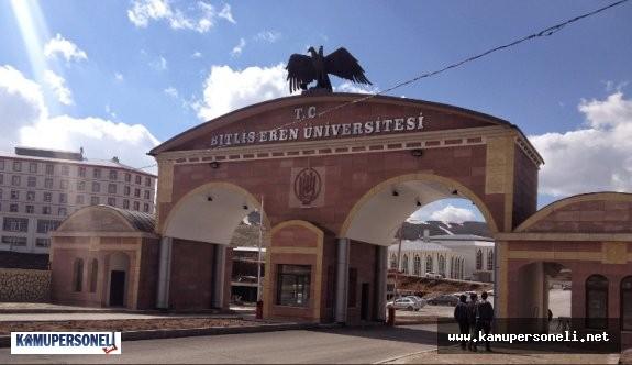 Bitlis Eren Üniversitesi 4 Akademik Personel Alacak