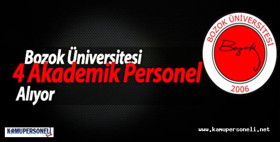 Bozok Üniversitesi 4 Akademik Personel Alıyor