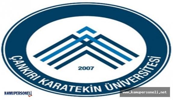Çankırı Karatekin Üniversitesi 33 Akademik Personel Alım İlanı 2016