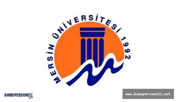 Mersin Üniversitesi Öğretim Üyesi Alacak
