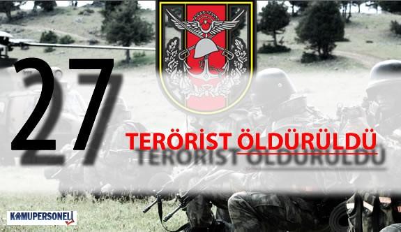 """TSK Açıkladı : """"31 Mart 2016 Tarihinde 27 Terörist Öldürüldü"""""""
