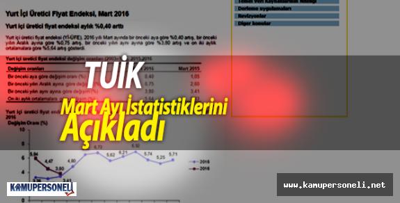 TUİK Mart Ayı İstatistiklerini Açıkladı