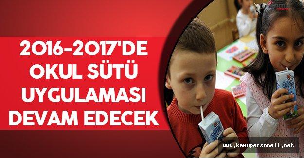 2016-2017'de Okul Sütü Uygulaması Devam Edecek