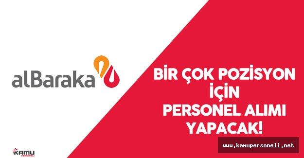 2016 Albaraka Türk Katılım Bankası Personel Alım İlanı