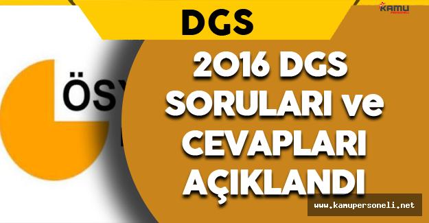 2016 Dikey Geçiş Sınavı (DGS) Soruları ve Cevapları ÖSYM Tarafından Açıklandı