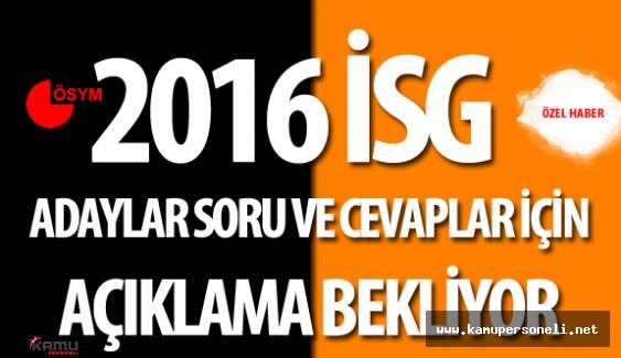 2016 İSG Soru ve Cevaplarının Açıklanması için Adaylar İmza Topluyor
