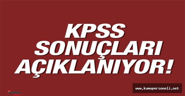 2016 KPSS Lisans Sonuçları Açıklanıyor