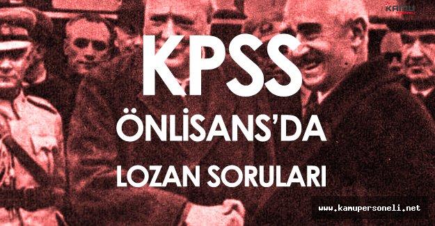 2016 KPSS Önlisans'ta Lozan Ağırlıklı Tarih Soruları