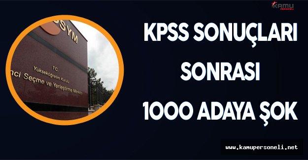 2016 KPSS Önlisans Sonuçları Sonrası 1035 Adaya Şok !