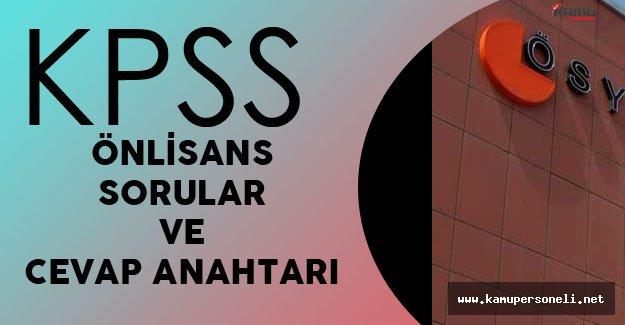 2016 KPSS Önlisans Soruları ve Cevap Anahtarı Yayımlandı