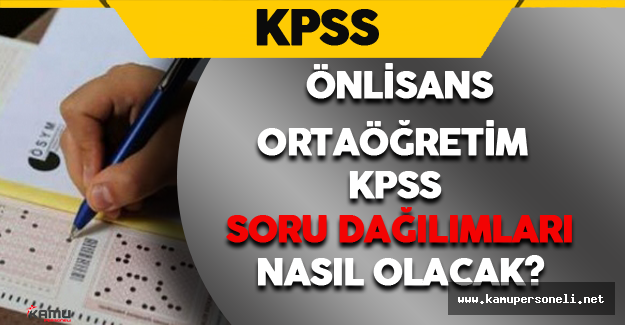 2016 KPSS-Önlisans/Ortaöğretim'de Hangi Konular Çıkacak?