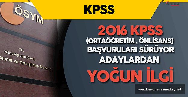 2016 KPSS Ortaöğretim Önlisans için Adaylardan Yoğun İlgi