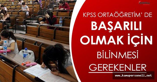 2016 KPSS Ortaöğretim Sınavında Başarılı Olmak İçin Dikkat Edilmesi Gerekenler
